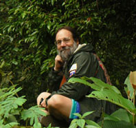 Albert Bates in Brasilian forest